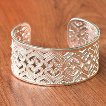 Load image into Gallery viewer, Open Cuff Heart Bangle