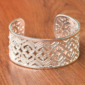 Open Cuff Heart Bangle