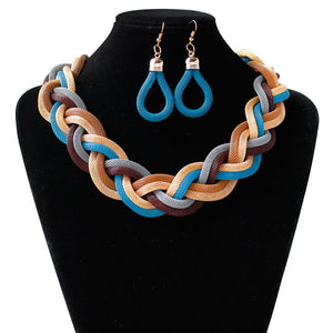 Dubai African Mysterious Necklace Earrings Set