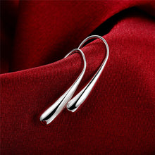 Load image into Gallery viewer, Silver WaterDrop Hook Earrings