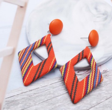 Load image into Gallery viewer, Rhombic Fabric Earrings