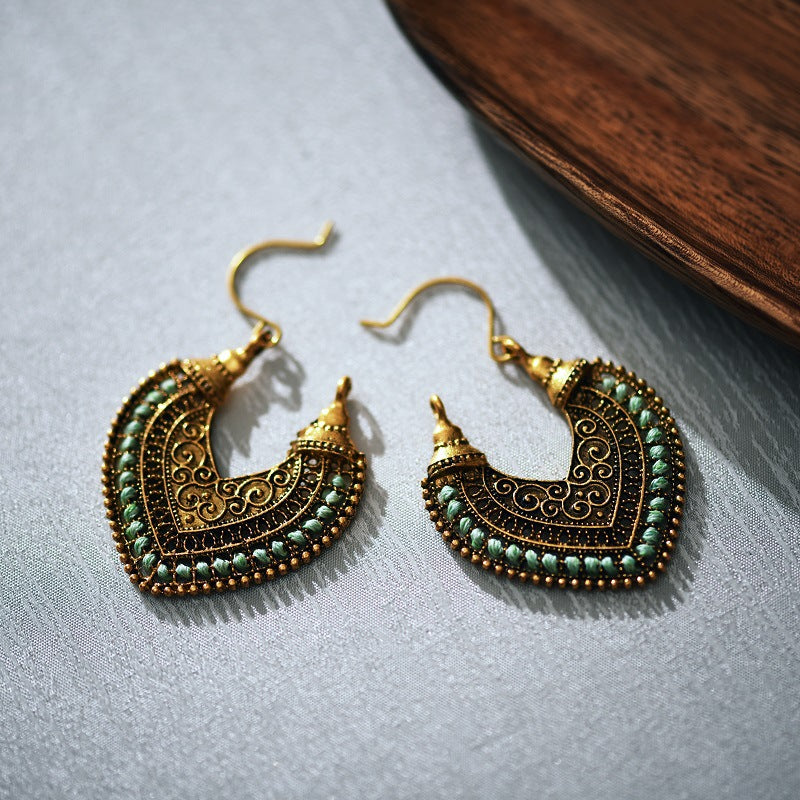 Vintage Style Heart Earrings