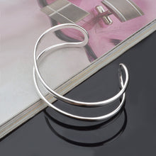 Load image into Gallery viewer, Elongated Hoop Bangle