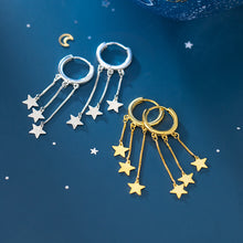 Load image into Gallery viewer, Fringed Star Earrings