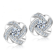 Load image into Gallery viewer, Crystal Stud Twist Earrings