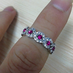 Micro Set Austrian Crystal Engagement Ring