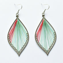 Load image into Gallery viewer, Large Handmade Leaf Earrings