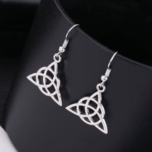 Load image into Gallery viewer, Celtic Triangle Earrings
