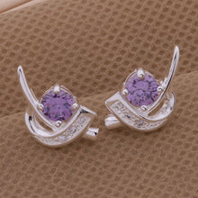 Load image into Gallery viewer, Austrian Crystal Sickle Earrings