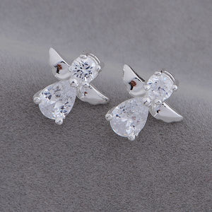 Austrian Crystal Angel Earrings