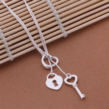 Load image into Gallery viewer, Heart, Lock and Key Necklace