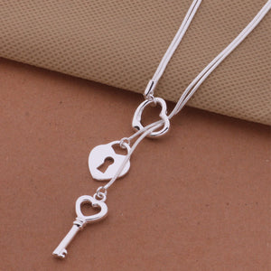 Heart, Lock and Key Necklace