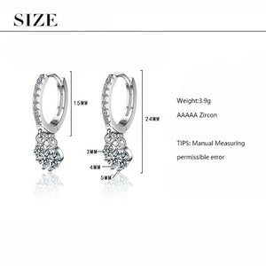 Silver Water Drop Earrings