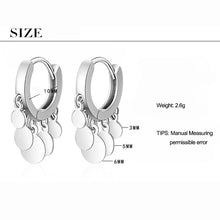 Load image into Gallery viewer, Small Disc Hoop Earrings