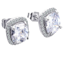 Load image into Gallery viewer, Austrian Crystal Square Earrings