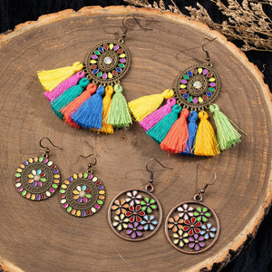 Modern Boho Drop Earrings Sets of 3