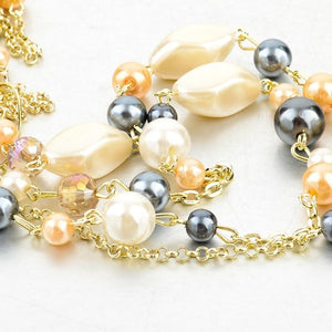 Natural Stone Love Bead Necklaces
