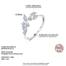 Load image into Gallery viewer, Austrian Crystal Leaf Ring