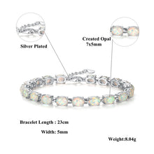 Load image into Gallery viewer, Fire Opal Chain Bracelet