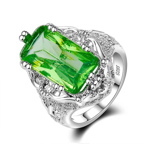 Green Hyberbole Lace Ring