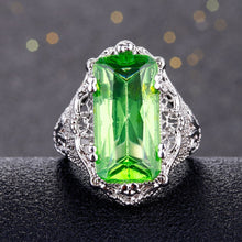 Load image into Gallery viewer, Green Hyberbole Lace Ring