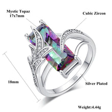 Load image into Gallery viewer, Rainbow Mystic Austrian Crystal Ring