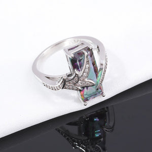 Rainbow Mystic Austrian Crystal Ring