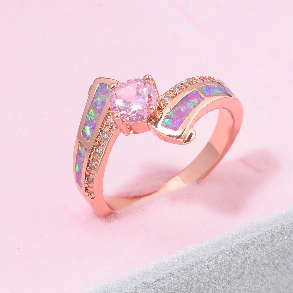 Violet Purple Fire Opal Ring