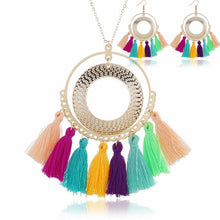 Load image into Gallery viewer, Bohemian Multicolor Tassel Set