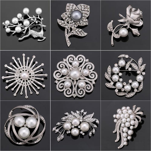 Swiss Crystal Brooch Collection
