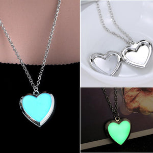 Fluorescence Heart Photo Locket