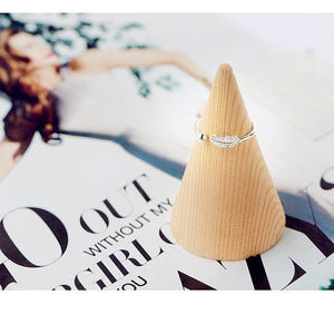 Cute Feather Adjustable Ring