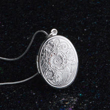 Load image into Gallery viewer, Boho  Silver Oval Locket
