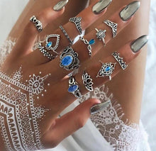 Load image into Gallery viewer, Boho Retro Crystal Vintage Geometry Rings