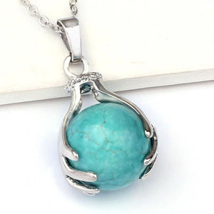 Silver Plated Turquoise Necklace