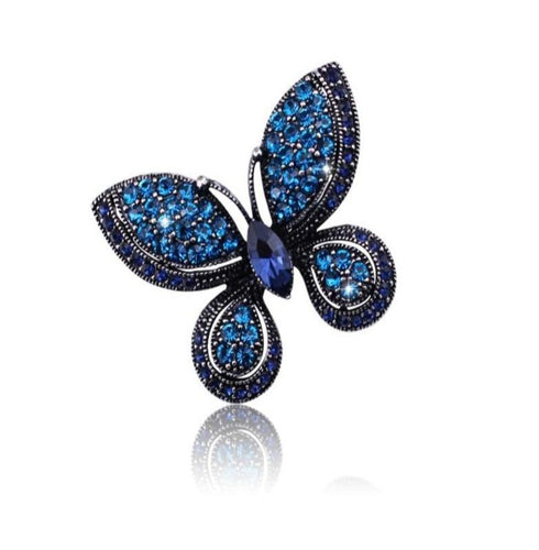 Austrian Crystal Butterfly Brooch