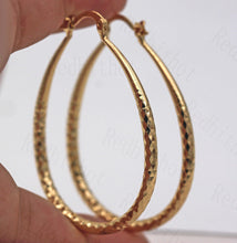Load image into Gallery viewer, Gold Drop Hoop Earrings