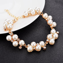 Load image into Gallery viewer, Faux Pearl Champagne Bracelet