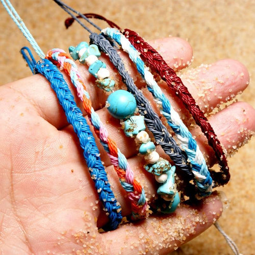 Natural Stone Charms Anklets
