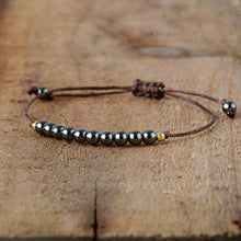 Load image into Gallery viewer, Boho Unisex Hematite Friendship Bracelet