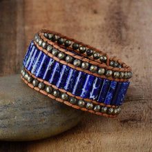 Load image into Gallery viewer, Natural Stone Cuff Bracelet