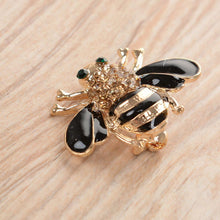 Load image into Gallery viewer, Crystal Bee Brooch