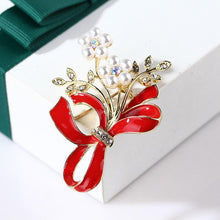 Load image into Gallery viewer, Memorial Angel Ribbon Brooch