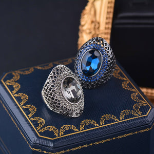 Luxury Vintage Gothic Crystal Ring