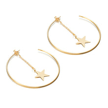 Load image into Gallery viewer, Simple Hoop Earrings With Star