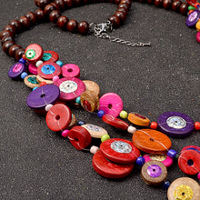 Load image into Gallery viewer, Handmade Bohemian Ethnic necklace