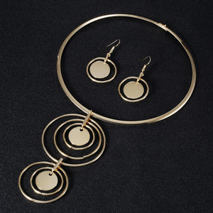 Boho Trendy Statement Round Circle Jewelry Sets