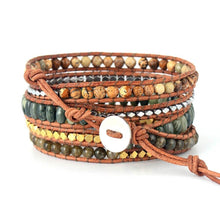 Load image into Gallery viewer, Boho Natural Stone Leather Rope