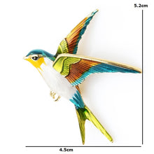 Load image into Gallery viewer, Flying Swallow Brooch