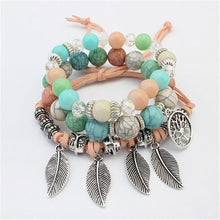Load image into Gallery viewer, Boho Leaves Bangle & Bracelet